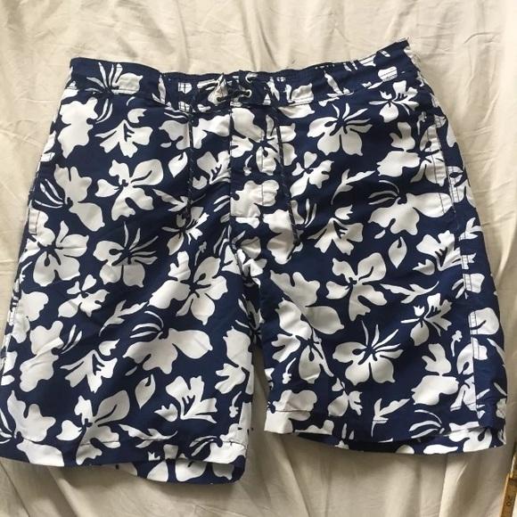 9fc9455dd7 St. John's Bay Swim | St Johns Bay Trunks Xl Blue White Floral ...